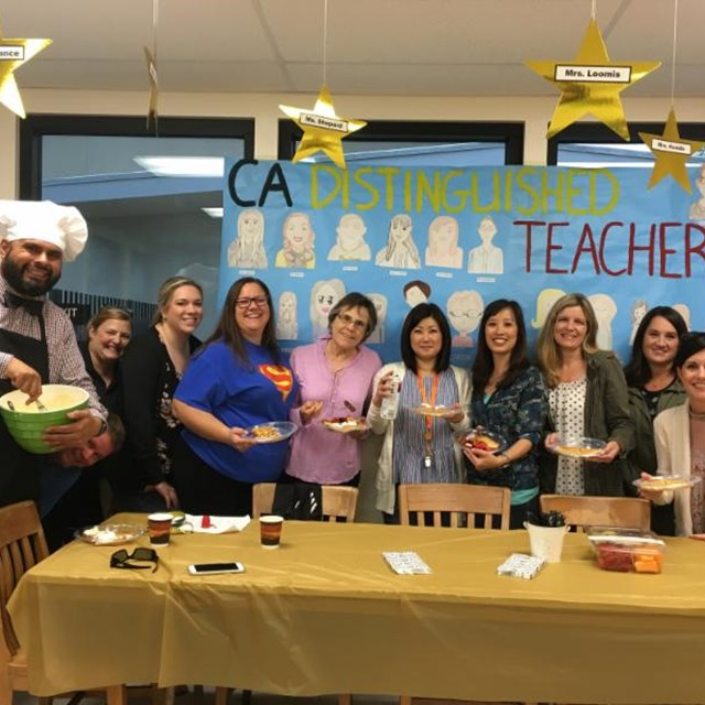 Paine celebrates its teachers during Teacher Appreciation Day! Thanks Principal Martinez for the waffle breakfast and coffee!