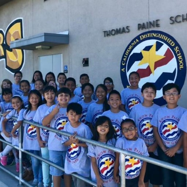 Paine scholars are proud to earn recognition for outstanding performance and academic improvement as a 2018 California Distinguished School!