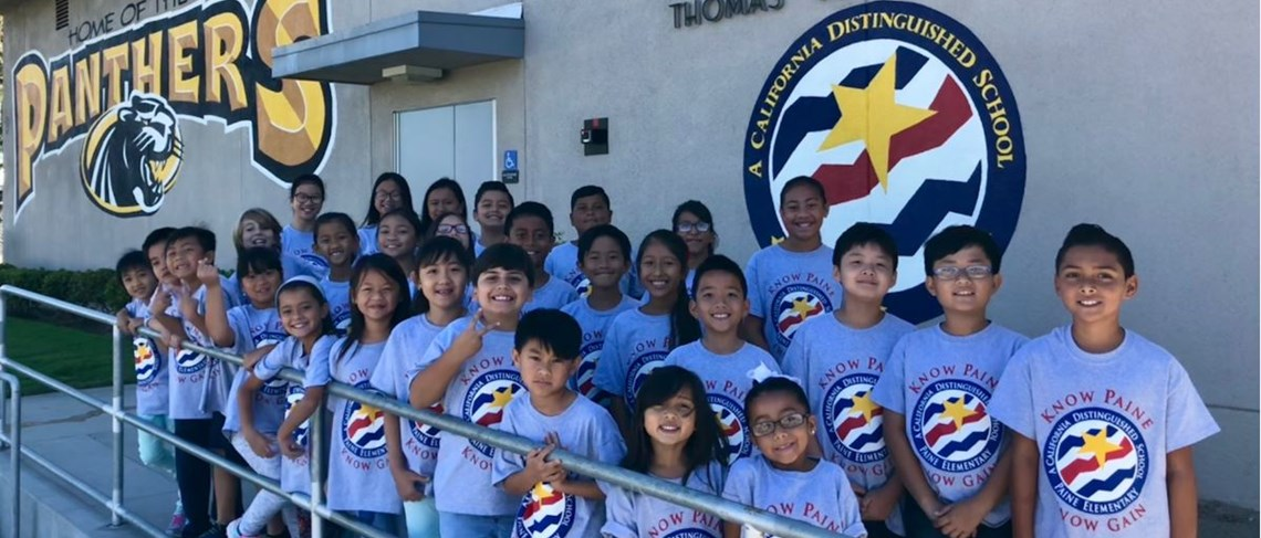 Students celebrate Paine's recognition as a 2018 California Distinguished School!