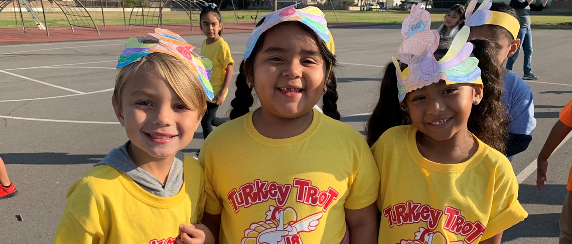 School spirit is on display at Paine's annual Turkey Trot. Exercise is great, but exercising with friends is even better!