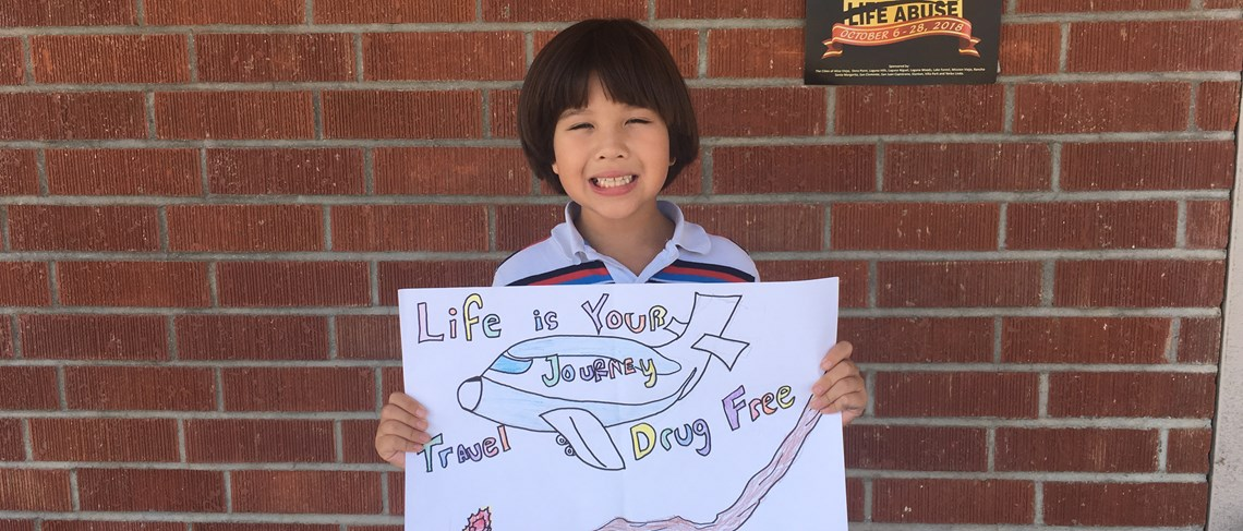 Winner of the Red Ribbon Week Poster Contest! Well done!